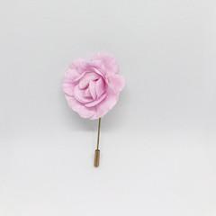 Pink Rose Flower Lapel Pin