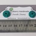 Fabric Drop Earrings - Turquoise / Aqua Earrings