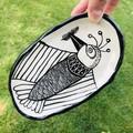 Long bird plate
