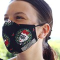 Face mask, 3 layers, adjustable straps, 100% cotton