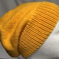 Unisex adult hand knit Slouchy/beanie 50% Aus wool 50% bamboo sew-ezy Aus 2/3