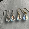 16mm AB Crystal Baroque Swarovski® drop hook earrings