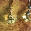 18mm Jonquil Swarovski® Butterfly crystal pendant necklace