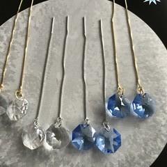 14mm Vintage Octagon Swarovski® crystal Thread earrings.