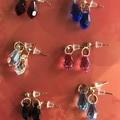 Various Gold 13mm teardrop Swarovski® crystal stud earrings - various colours