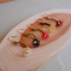 SALE! Tatting lace earrings (small flower)
