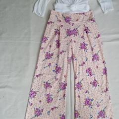 High waist pants vintage fabric