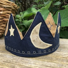 Stars and Moon Fabric Party Crown