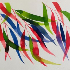 Gum leaves- 2 original watercolour paintings. Selling as a pair