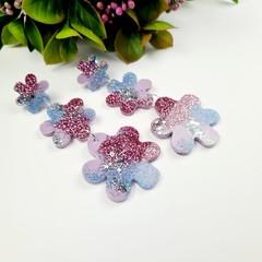 Mermaid Sparkle Mermaid Flower Drop Resin - Stud Dangle earrings