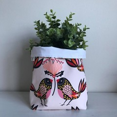 Large fabric planter | Storage basket | Pot cover | BIRDIES