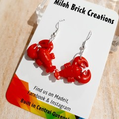 UNDER THE SEA:  Lobster, Crab, Fish, Starfish & Shell Brick Earrings