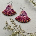 Polymer clay earrings - Gum Blossoms