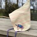 Unicorn upcycled wool pixie hat