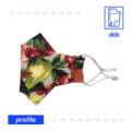 3D Handmade Face Mask | Optional Filter Pocket | 3 Layer 100% Cotton | Fruity