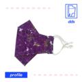 3D Handmade Face Mask | Optional Filter Pocket | 3 Layer 100% Cotton | Violette