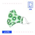 3D Handmade Face Mask | Optional Filter Pocket | 3 Layer 100% Cotton | Kiwi