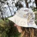 Women's reversible upcycled Sunhat
