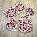 Australian Flowering Gum Bib and Burp Cloth Set, Baby Girl Bib Set