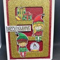 Christmas card / Blank card /