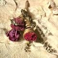 """Cornucopia"" Dried flowers bouquet - Natural - Peony, Sedum, Celosia - Pink"