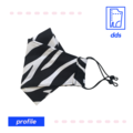 3D Handmade Face Mask | Optional Filter Pocket | 3 Layer 100% Cotton | Zebra