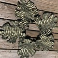 Quilted Monstera leaf mat / placemats - recycled