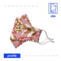3D Handmade Face Mask | Optional Filter Pocket | 3 Layer 100% Cotton | Floral