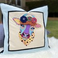 """Daisy"" the Cow Cushion Cover Duck Egg Spot"