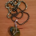 Handmade Wirewrapped Bloodstone Crystal Pendant Necklace