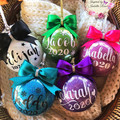 Personalised Christmas Glitter Bauble