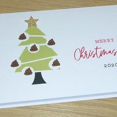 Christmas Card - poop emoji 2020 - funny xmas card