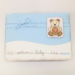 Baby Boy Card - Teddy Paper Tole
