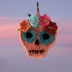 Halloween Handmade Decorations Crochet Sugar Skull