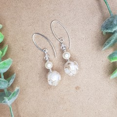 Sea Inspired Swarovski & Shell Drop Earrings