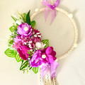 Purple  Pink Rose Decorated Girls Hoop