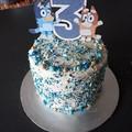 Bluey & Bingo - ABC kids - cake topper - kids party - pick age - caketopper