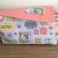 Dolls Nappy bag set, Little Bo Peep nursery rhyme print, girls gift,