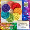 7 Deluxe Hand Crocheted Rainbow 'Scrubbies'
