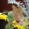 Mother Hen with Baby Chicks Brass Garden Decoration