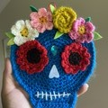 Halloween Decoration Crochet Wall Hanging Sugar Skull