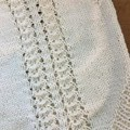 Newborn Hand knitted cotton romper suit - ideal for summer.