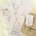 WOODLAND FRIENDS Baby Milestone Cards