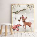 ENCHANTED WOOD FAWN KISSING FAIRY Art Print 8x10""
