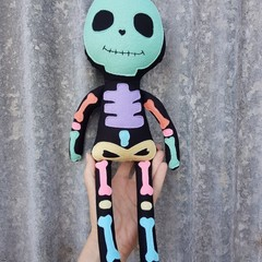 Skeleton doll, Handmade cloth toy