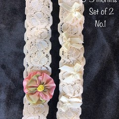 Set of 2 headbands size 0-3months