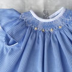 Premmie / Newborn Babies Hand smocked Dress/Pants set.