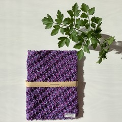 A Set of 2 Hand Knitted Placemats+free gift bag