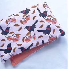 Heat Pillow - Scarlet Wrens - Lavender Heat Pack
