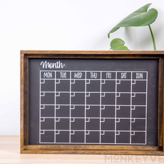 Rustic Wooden Farmhouse Sign - Monthly Planner